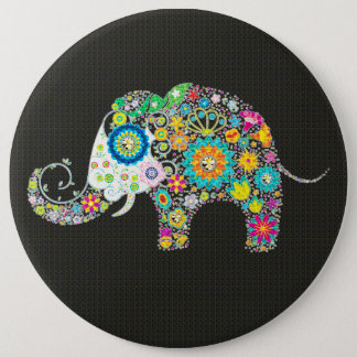 Flower Elephant With Diamond Studs Button