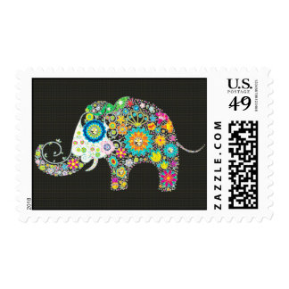 Flower Elephant With Diamond Studs Postage