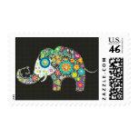Flower Elephant With Diamond Studs Postage