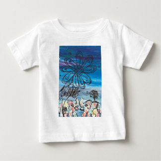 Flower Elephants Baby T-Shirt