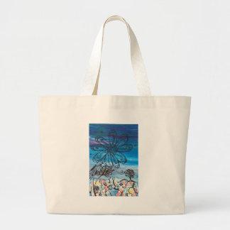 Flower Elephants Canvas Bag