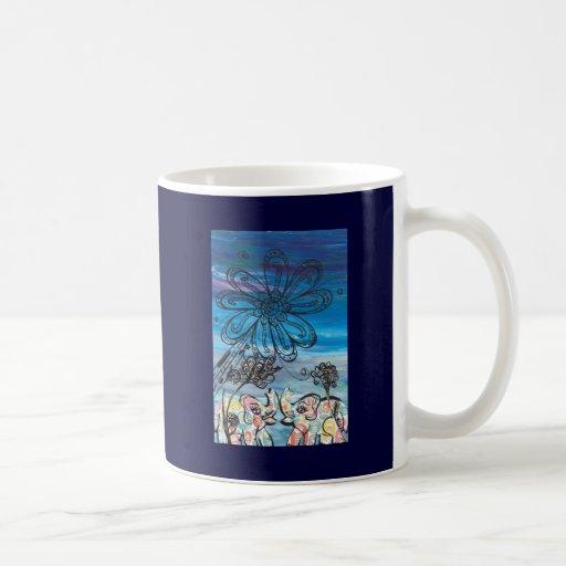 Flower Elephants Coffee Mugs