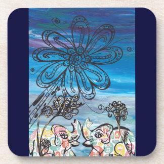 Flower Elephants Drink Coaster