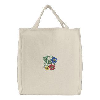 Flower Embroidered Bag