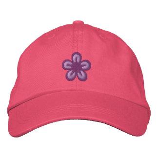 Flower Embroidered Baseball Hat