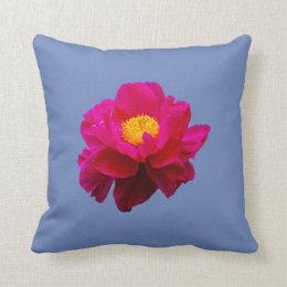 Blue violet flower emoji flowers healthy flower emoji throw pillow mightylinksfo Images