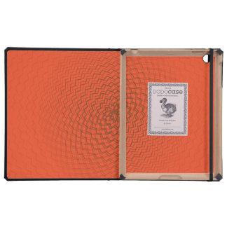 Flower Energy Pattern Oranges iPad Folio Cases