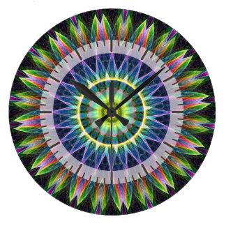 Flower Eye kaleidoscope Large Clock