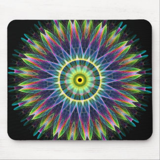 Flower Eye kaleidoscope Mouse Pad