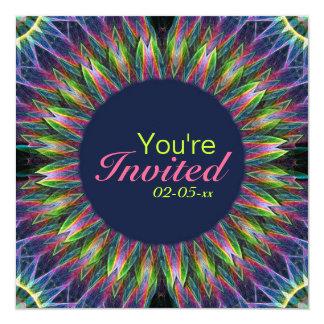 Flower Eye Mandala 5.25x5.25 Square Paper Invitation Card