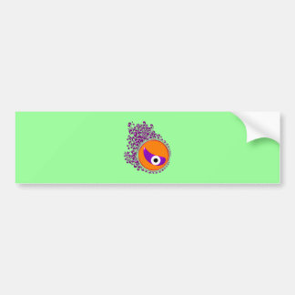 Flower eye more flower eye bumper sticker