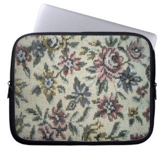 Flower Fabric Laptop Sleeve