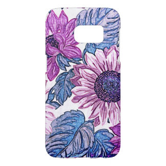 Flower Fabric PrintSamsung Galaxy S7, Barely There Samsung Galaxy S7 Case