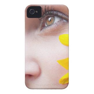 Flower Face Woman iPhone 4 Case-Mate Case