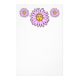 Flower Faces pink Stationery
