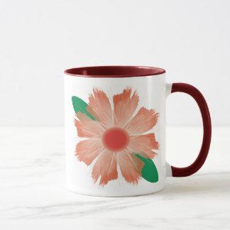 Flower Fades Scripture mug - Red flower and trim