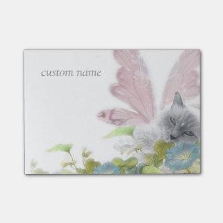 flower faerie cat purrfect fantasy post-it® notes