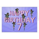 Flower fairies 7th birthday card