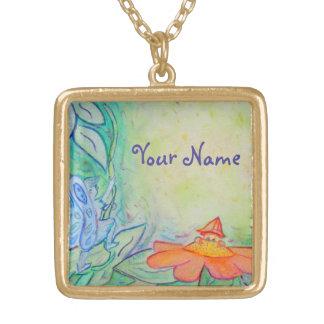 Flower Fairies Art Custom Name Jewelry Necklaces