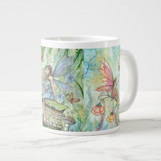 Flower Fairies Fantasy Art Jumbo Mug 20 Oz Large Ceramic Coffee Mug