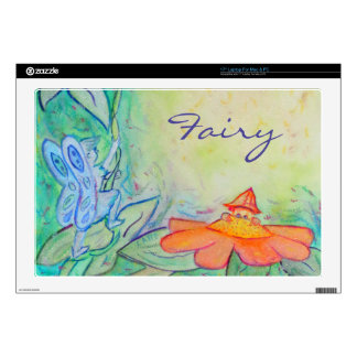 """Flower Fairies Garden 17"""" Laptop For Mac & PC Skin Laptop Decals"""