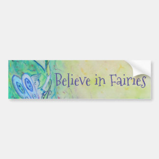 Flower Fairies Garden Art Custom Bumper Sticker