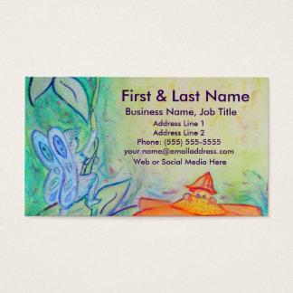 Flower Fairies Garden Art Custom Business Cards