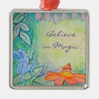Flower Fairies Garden Art Custom Ornament