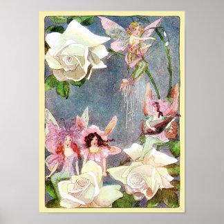 Flower Fairies Singing Poster Print