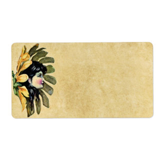 Flower Fairy Avery Label