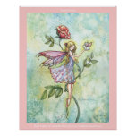 Flower Fairy Bunny  Poster Print