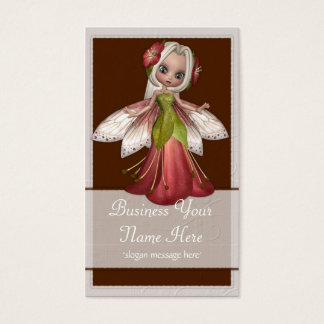 Flower Fairy D3 Fantasy Whimiscal Business Cards