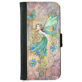 Flower Fairy Fantasy Art Illustration Wallet Phone Case For iPhone 6/6s