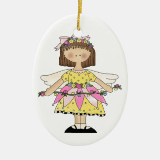 Flower Fairy girl ornament