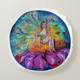 FLOWER FAIRY IN THE NIGHT ROUND PILLOW