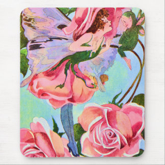 Flower Fairy of the Roses Vintage Illustration Mouse Pad