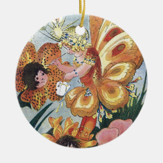 Flower Fairy Painting Tigerlily Ornament