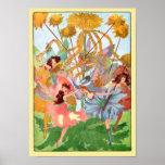 Flower Fairy Play Poster Print