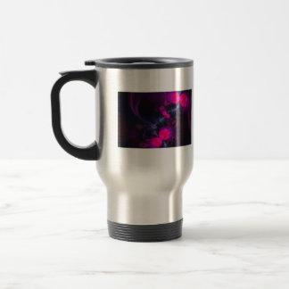 Flower Fairy – Rose and Magenta Ribbons 15 Oz Stainless Steel Travel Mug