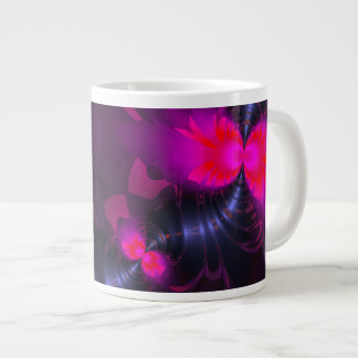 Flower Fairy – Rose and Magenta Ribbons 20 Oz Large Ceramic Coffee Mug
