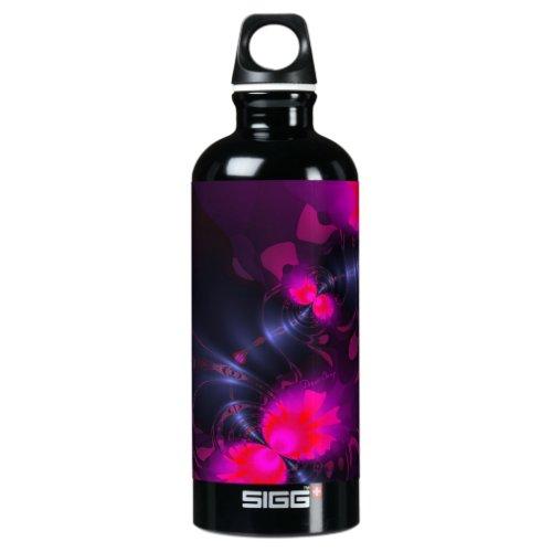 Flower Fairy – Rose and Magenta Ribbons Aluminum Water Bottle