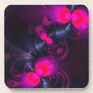 Flower Fairy – Rose and Magenta Ribbons Beverage Coaster