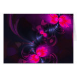 Flower Fairy – Rose and Magenta Ribbons Greeting Cards