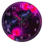 Flower Fairy – Rose and Magenta Ribbons Clock