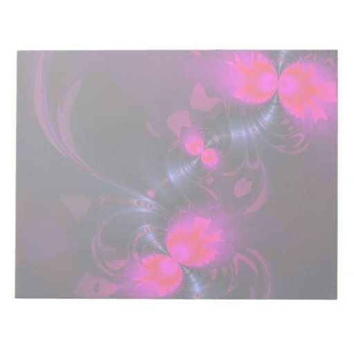 Flower Fairy – Rose and Magenta Ribbons Memo Notepad