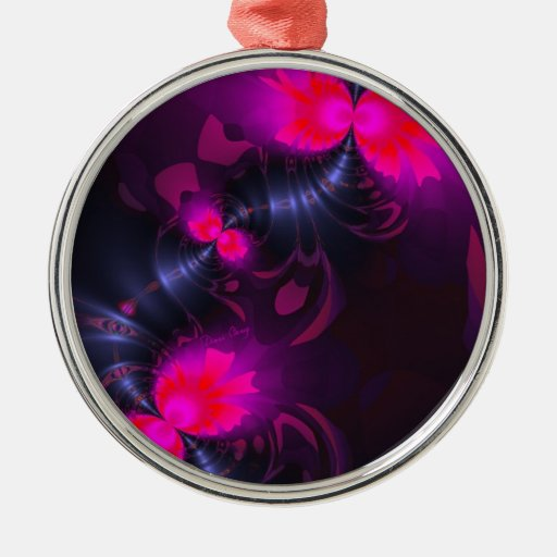 Flower Fairy – Rose and Magenta Ribbons Ornaments