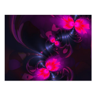 Flower Fairy – Rose and Magenta Ribbons Postcard