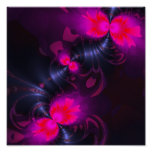Flower Fairy – Rose and Magenta Ribbons Print