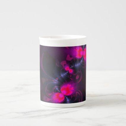 Flower Fairy – Rose and Magenta Ribbons Bone China Mugs