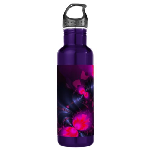 Flower Fairy – Rose and Magenta Ribbons Stainless Steel Water Bottle